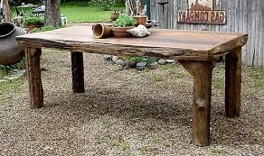 Amazing Rustic Outdoor Wood Furniture Dining Room Table All Nite Graphics