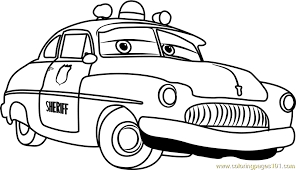 Sheriff From Cars 3 Coloring Page