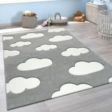 kinderteppich wolken design 3 d effekt grau