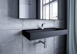 keramik wand handwaschbecken schwarz matt 100x46cm