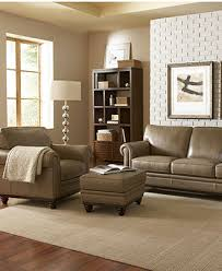 Kenton Fabric Sofa Parchment by Martha Stewart Collection Bradyn Leather Sofa Collection Created