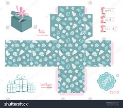 Versailles Tile Pattern Template by Printable Gift Box Various Sea Shells Stock Vector 208576807
