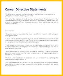 Changing Career Resume Objective Examples Goals For Objectives Accounting Internship Now Cost Objecti
