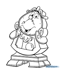 Beauty And The Beast Lumiere Coloring Pages 2