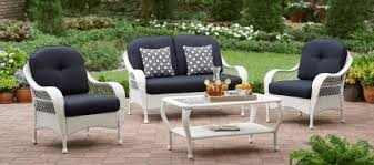 Azalea Ridge Patio Furniture Replacement Cushions by White Resin Wicker Patio Furniture Outdoor Room Ideas