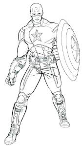 America Coloring Pages Captain To Print Photograph Printable Sheets
