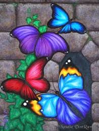 Items Similar To ORIGINAL Fantasy Butterfly Wings Ivy Vine Stone Castle Wall Window Acrylic Painting Whimsical Bug Insect Garden Art Natalie VonRaven On