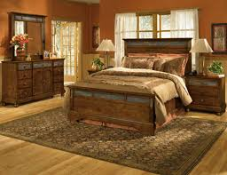 Turquoise Rustic Bedroom Furniture White Shade Table Lamp Brown Laminate Wooden Floor Tole Log Square Frame