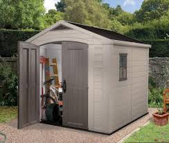 decorating keter shed factor 8 x 8 plastic garden shed with