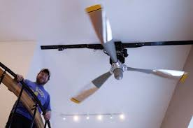 wonderful airplane propeller ceiling fan with light photo