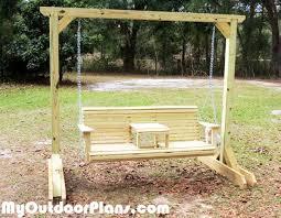 DIY Swing with Stand MyOutdoorPlans