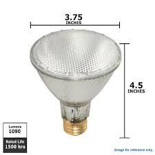 satco s2243 60w 120v par30l nfl34 e26 xenon halogen light bulb