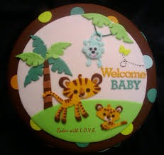 Jungle Baby Shower Cake Cakey Goodness
