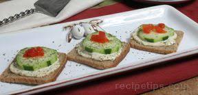 cucumber canapes cucumber canapes recipe recipetips com