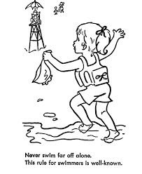 2 Page Pdf Coloring Booklet On Water Safety