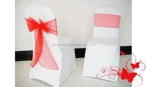 ruban pour noeud de chaise ruban noeud pour housse de chaise de mariage tissu organza couleur
