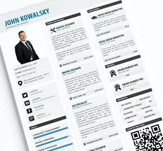 Creative Resume Templates Free Download Psd Qr Best Updated