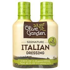 Olive Garden Signature Italian Dressing 20 oz bottle 2 ct
