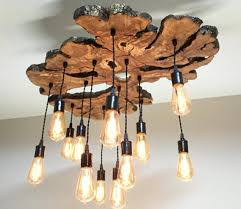 Homemade Wood Chandelier