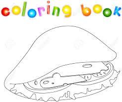 Livre De Coloriage Tomate Espace Enfants Illustration De Vecteur