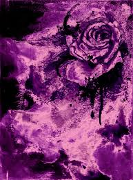 Abstract Purple Rose Painting Edit By ThatsWicked