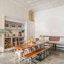Inspiration For A Large Eclectic Concrete Floor And Gray Great Room Remodel In New York
