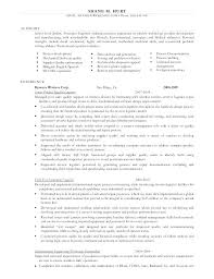 Manufacturing Engineer Cover Letter Process Skills Resume Hurt M Email