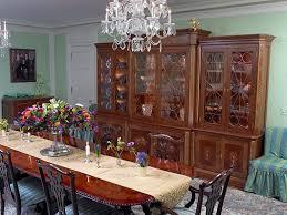 Mahogany China Cabinet Curvilinear Glass Doors Handmade Dining Room