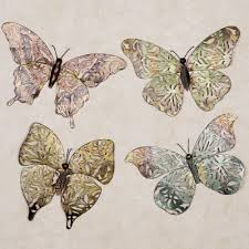 Spring Butterfly Metal Wall Art Set