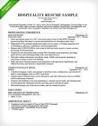 Sample Objective In Resume For Hotel And Restaurant Management Hospitality Front Desk Clerk