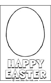 Blank Egg Colouring Picture Easter Sheet