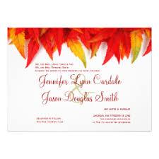 Autumn Leaves Fall Wedding Invitations