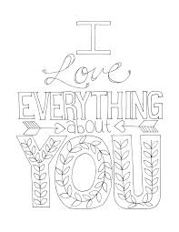 Full Image For Find This Pin And More On Love Free Printable Coloring Page One