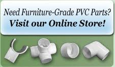 Furniture Grade PVC Parts Outdoor Furniture Replacement parts