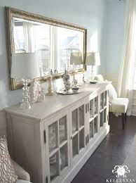 Restoration Hardware French Casement Sideboard Buffet In Blue Dining Room Mirrors