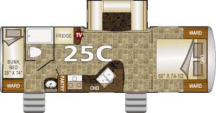 Travel Trailer Floor Plans With Bunk Beds by Northwood Nash 25c