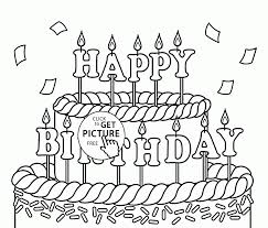 Large Size Of Coloring Pagebirthday Color Page 01 Birthday Big Cake
