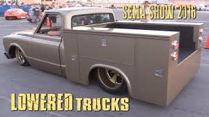 LOWERED TRUCKS Of SEMA SHOW 2016 - YouTube