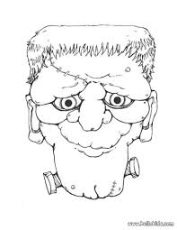Frankenstein Head Coloring Page
