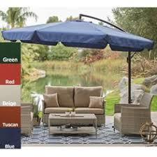 Mosquito Netting For Patio Umbrella Black by Shop Garden Treasures Red Offset Patio Umbrella Common 10 5 Ft W