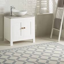 fascinate patterned ceramic floor tile cabinet hardware room