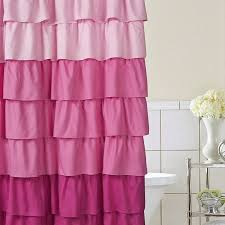 Purple Waterfall Ruffle Curtains by Whimsy Pretty Things Ruffle Shower Curtains