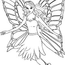 Barbie Mariposa Beautiful Wings Coloring Pages