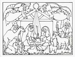 Coloring Pages Of The Nativity Sheets Free Advent Getcom Christmas Shepherds Jesus