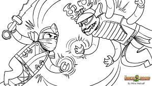 Ninjago Coloring Pages Golden Ninja