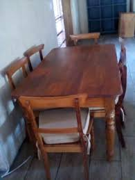 Yellow Wood Furniture In Dining Room Western Cape