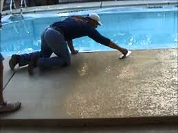 decorative concrete pool deck coatings by sider crete inc youtube