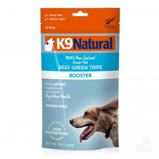 K9 Natural Beef Green Tripe Dog Food Booster, 2.6oz