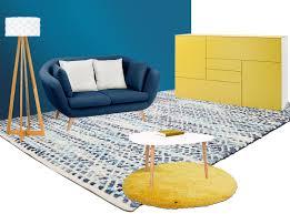 wohnidee blau und gelb möbel höffner