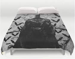 caped crusader batman bedding queen comforter cover superhero sheets